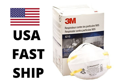 *USA* 3M N95 8210 Particulate Respirator Mask  ONE BOX (20 pcs mask) FAST SHIP