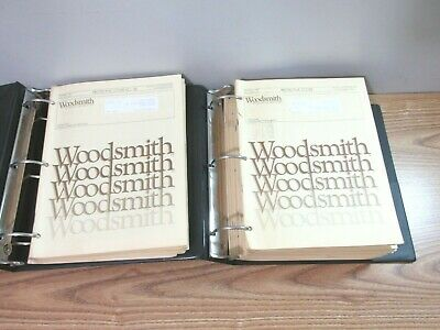 Woodsmith Magazines Lot Of 35 In Binders 1980'S