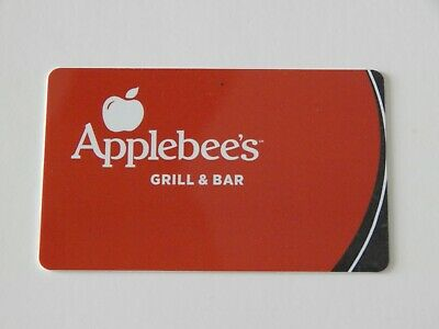 Applebee's Red & Black Gift Card NO $ VALUE -NEW-