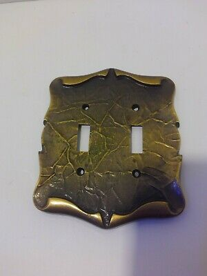 Vintage Amerock Carriage House Brass Double Toggle Wall Plate Cover