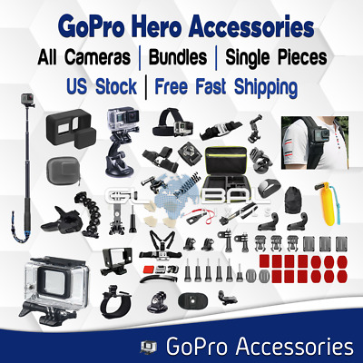 Accessories compatible with GoPro Hero 2 3 4 5 6 7 Set / Pieces lot Cover Mount
