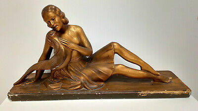 ART DECO FIGURE OF A YOUNG GIRL S MODANI signed marked