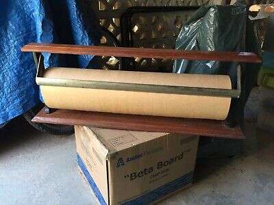 Antique Paper Stand Roll Cutter, Brown Paper