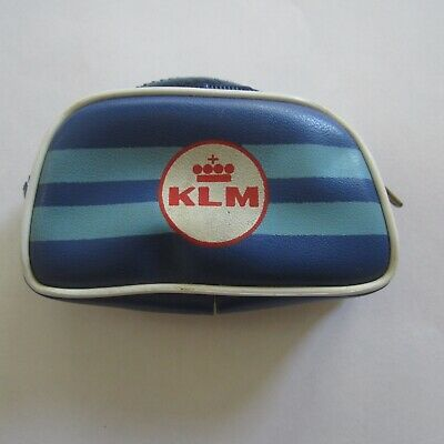 Vintage Barbie ? Doll KLM Airlines Zip Travel Bag 1960s 1970s