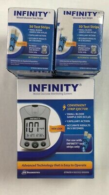 Infinity Blood Glucose Monitoring System Kit w/ 400 Test Strips exp 9/30/2020