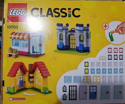 LEGO Classic Large Creative Brick Box Construction Set Houses Castles for Kids