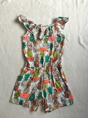 ***Next girls Pineapple short frilly playsuit 10 years***