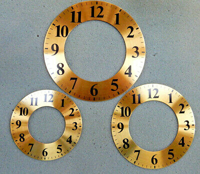 Brass Spun Chapter Ring Clock Faces/Dials - Round, Arabic Numerals