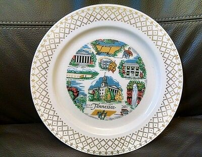 Vintage Souvenir Tennessee Decorative Wall Plate by Knowles