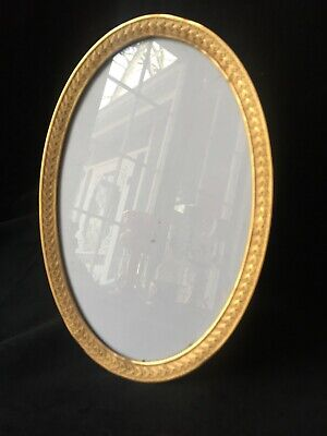Gilt Dore Bronze French Antique Large Oval Photo Picture Frame