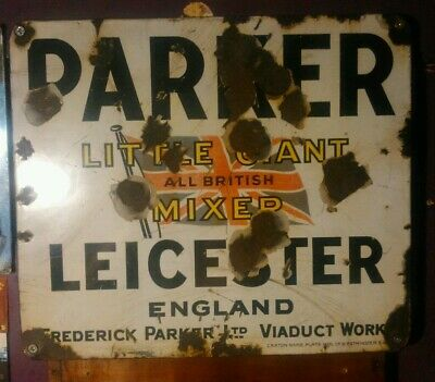 PARKER MIXER ENAMELLED PLATE approx 14x12 inches