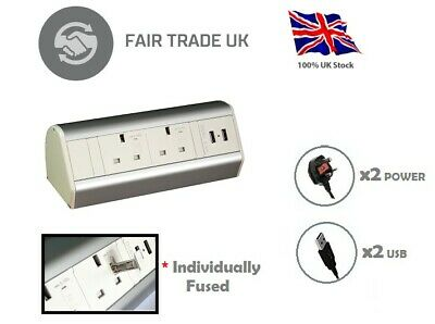 Desktop Power Unit *Individually Fused* + free 2 meter UK Mains cable