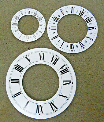 White Chapter Ring Clock Faces/Dials - Round, Roman Numerals
