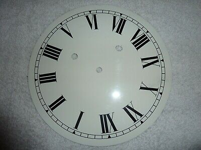 White Replacement Clock Dial 9 inches  Roman Numerals
