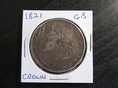 1821 Great Britain Silver Crown in VF Condition