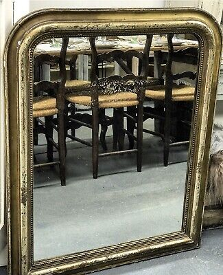 Late 19th Century French Louis Philippe Mirror In Gilt Wood Frame.