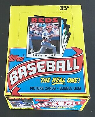 1986 Topps Baseball Trading Cards Wax Box