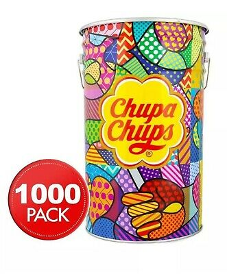 Chupa Chups Bulk 1000 Lollipops Mega Tin Assorted Flavours - FREE EXPRESS POST