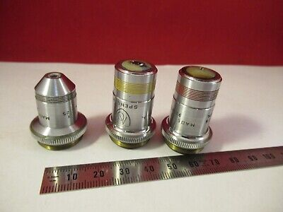 Lot 3 Ao Spencer Objectives American Optics Microscope Part As Pictured #10-B-30