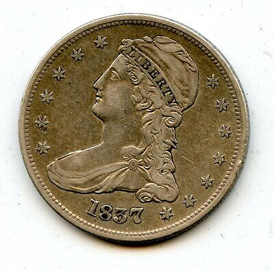 1837 Capped Bust  SILVER HALF DOLLAR Nice Details