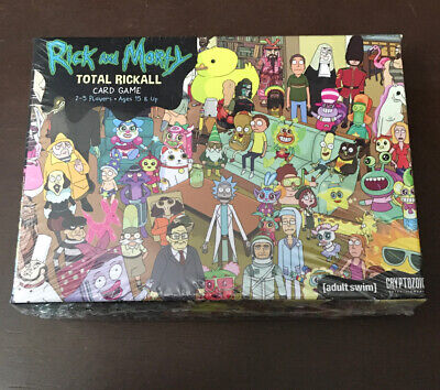 Adult Swims Finest Rick And Morty Total Rickall Card Game 2-4 Players Age 18