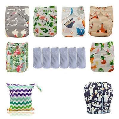 Reusable Baby Cloth Pocket Diapers + Swimming Diaper + Microfiber Inserts + FREE