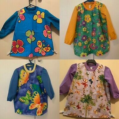 4-8 Year Old Butterfly School Art Smocks - Home Made