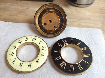 Three French Clock Faces,to Be Used For Spares Or Repair.