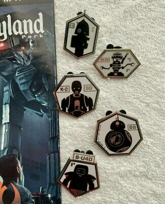 Star Wars Galaxy's Edge DROID DEPOT Mystery Pins 5 LOT Disneyland BB R1 K2  Set