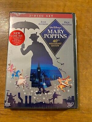 Mary Poppins DVD 40th Anniversary Edition (2004, 2-Disc Set) Brand New