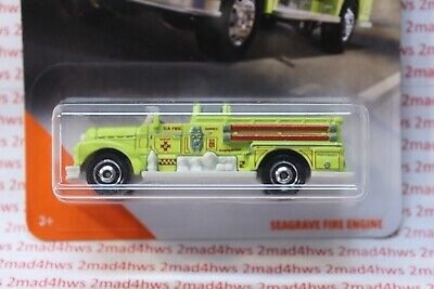 Matchbox City Seagrave Fire Engine 26//100 neon Green