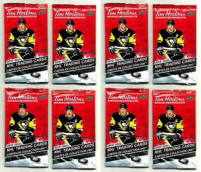 2019-20 TIM HORTONS UD 8 SEALED HOCKEY CARD PACKS LOT Mcdavid Matthews Crosby ?