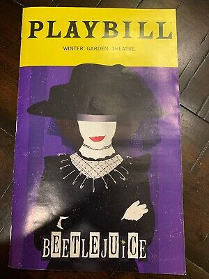 BEETLEJUICE Broadway EXCLUSIVE JANUARY Playbill LYDIA Cover Limited - Free Ship!