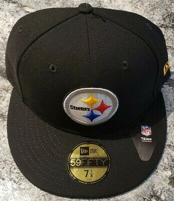 Pittsburgh Steelers New Era 59Fifty Official Fitted NFL Hat/Cap Size 7-1/8
