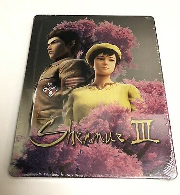 Shenmue 3 III Limited Edition Steelbook Steelcase Case (NO GAME), New