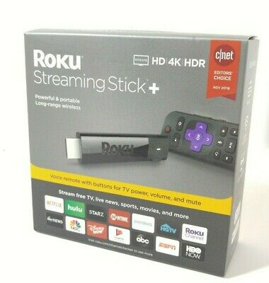 NEW Roku 4K Streaming Stick+ Plus w/ Voice Remote, 3810R