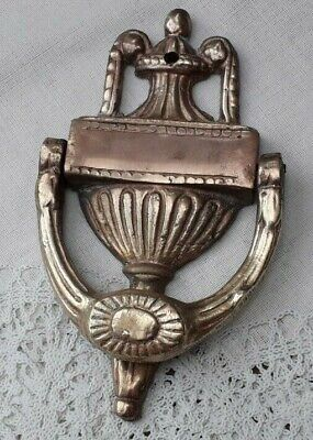 "Heavy Vintage Brass Door Knocker - 4"" X 7"" - Made In England"