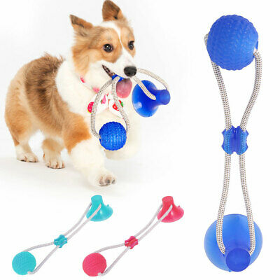 Pet Dog Toy Floor Suction Cup with Ball Cat Pet Teeth Cleaning Playing.