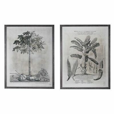 NEW OneWorld Collection Grey Palm Framed Art Print (Set of 2)