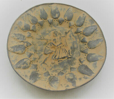 Museum Quality Ancient Persian Hand Beaten Silver Dish