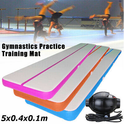 Airtrack 12/20/26FT Air Track Floor Inflatable Gymnastics Tumbling Mat GYM Pump