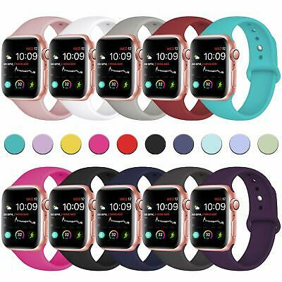 for AppleWatch iWatch Series 5 3 4 38/40/42/44mm Soft SILICONE Sport Strap Band