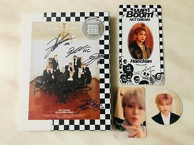 (With photocard) NCT DREAM AUTOGRAPH SIGNED WE BOOM ALBUM