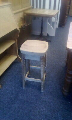 Old Pine Stripped Kitchen Stool (3 available)