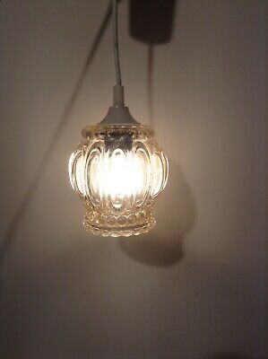 Vintage French Glass Pendant Style Ceiling Light