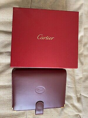 CARTIER Leather Journal COVER And Address Book Bordeaux with Box - New, unused!