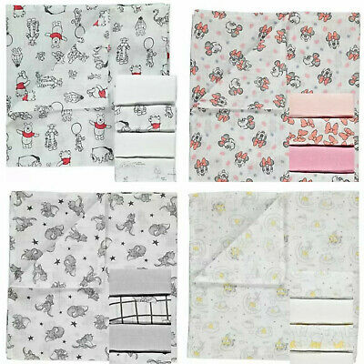 Disney Baby George 5X PACK Muslin Squares Girls Boys Gift Cloth Bibs Character