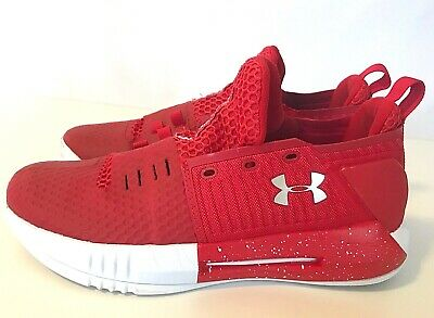 $120 UNDER ARMOUR Men's size 9.6 EU 43 Red White DRIVE 4 Low