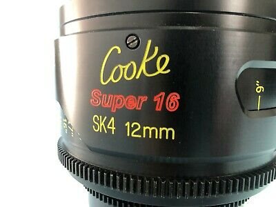 Rare Cooke SK4 12mm T2 PL Mount lens for Super16mm format cameras