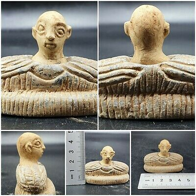 Ancient Rare Bactrian Composite Stone Baby Idol Figure #A175